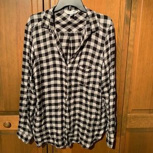 Black and White Checked Button Down
